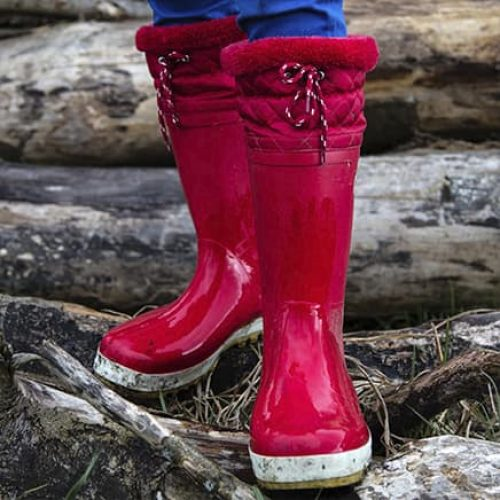 pudelflex wellies red muddy puddles