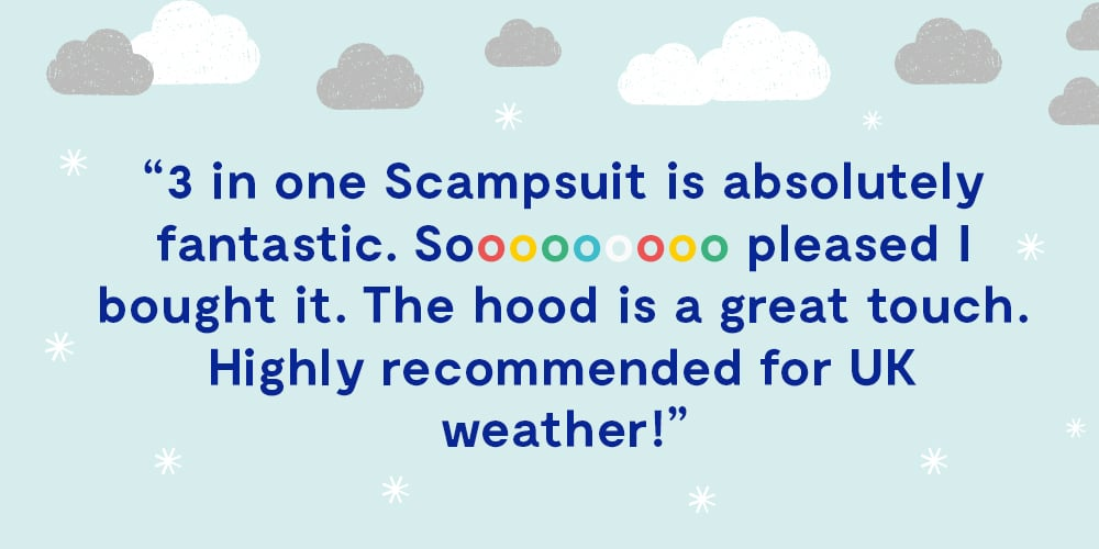 """reviews: """"3 in 1 scampsuit is absolutely fantastic."""""""