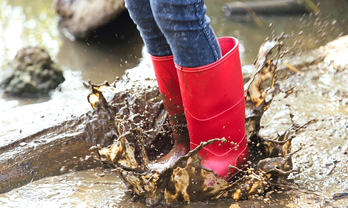 classic wellies in mud