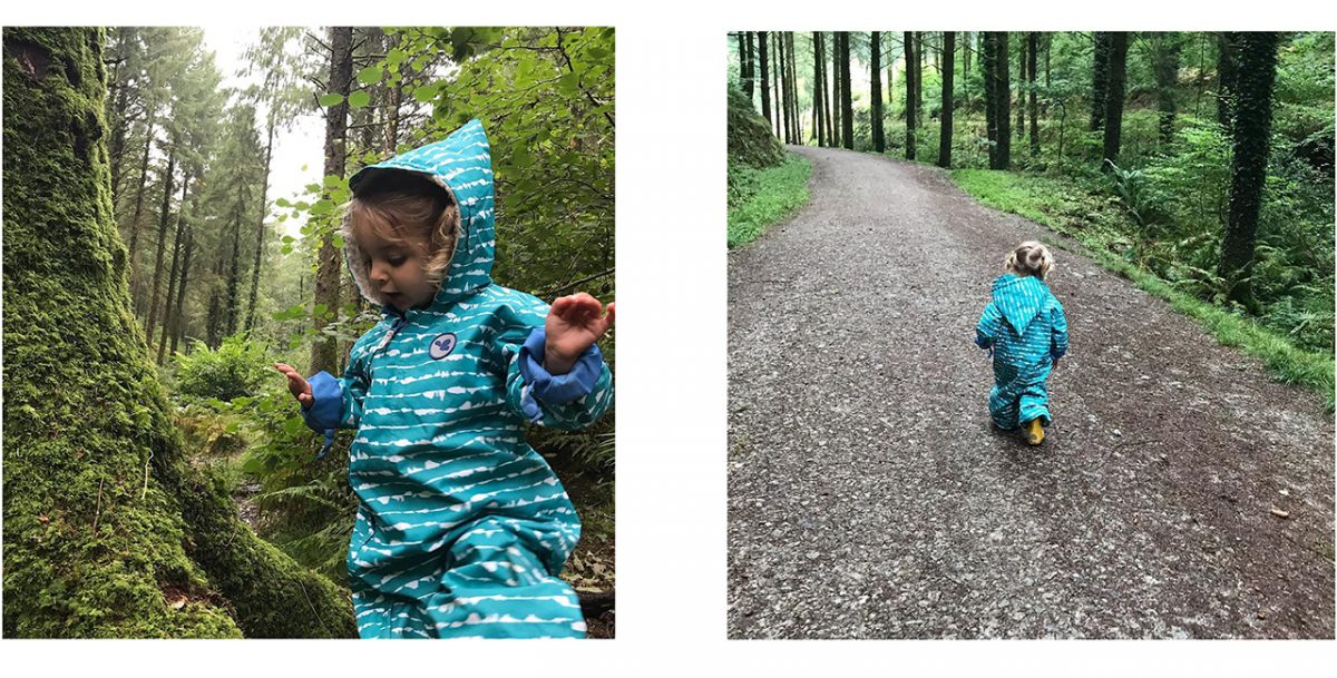 little girl in the forest- scampsuit