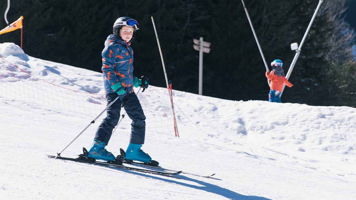 boy skiing- wearing Blizzard jacket