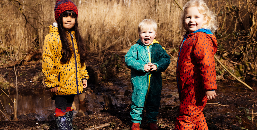 group of childen wearing ecosplash collection