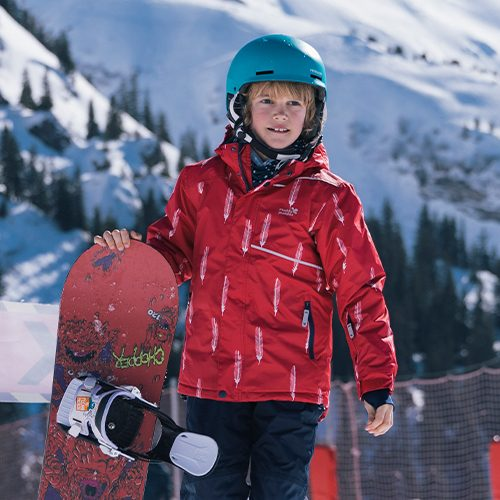 boy snowboarding blizzard jacket