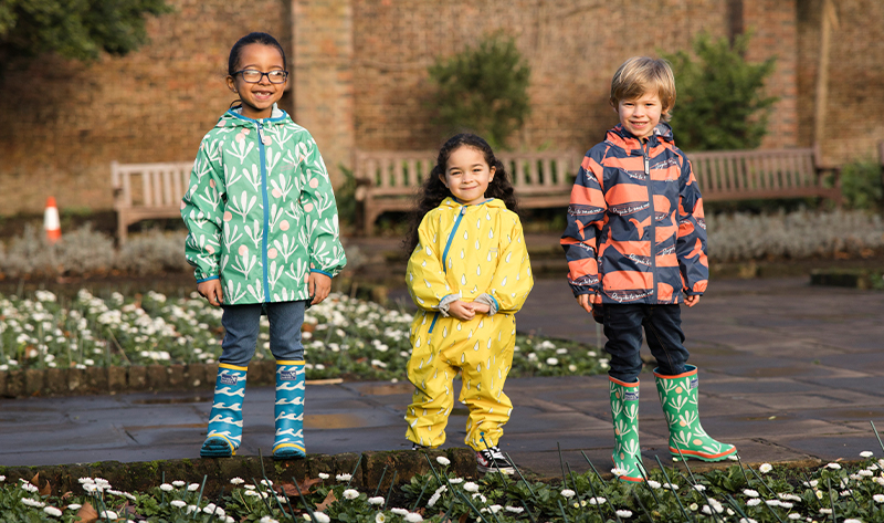 group of children wearing Ecolight collection